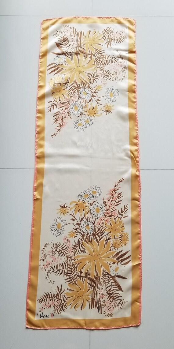 Vintage Vera Neumann Sunflower Rectangle Scarf