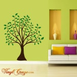 Spring Tree with leaves - Vinyl Wall Decal