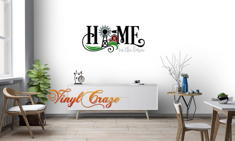 Home Sweet Home Saying Vinyl Wall Art Decal Farm theme image 0