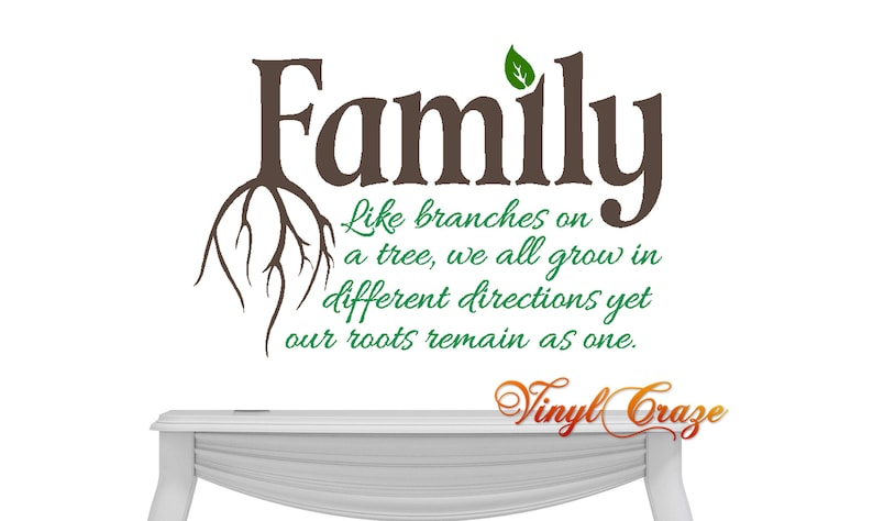 Family Tree Words Family like branches...grow in different image 0
