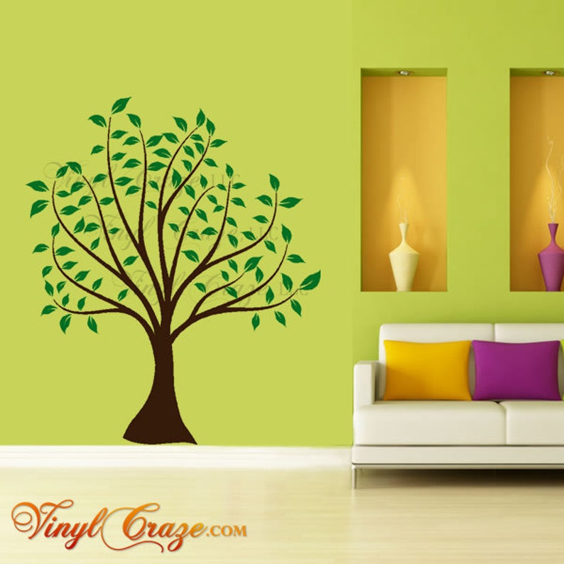 Spring Tree with leaves  Vinyl Wall Decal image 0