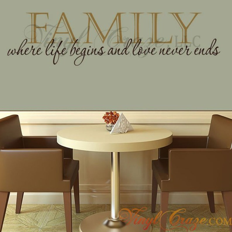 Family  where life begins and love never ends  Saying/Quote image 0