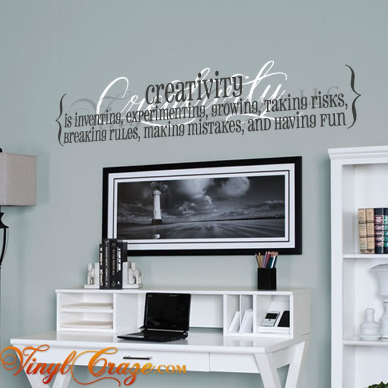 Creativity defined  Definition/Saying/Quote Vinyl Wall Decal image 0