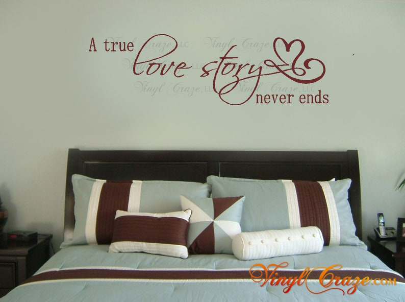 A true LOVE STORY never ends Vinyl Wall Art Decal Master image 0
