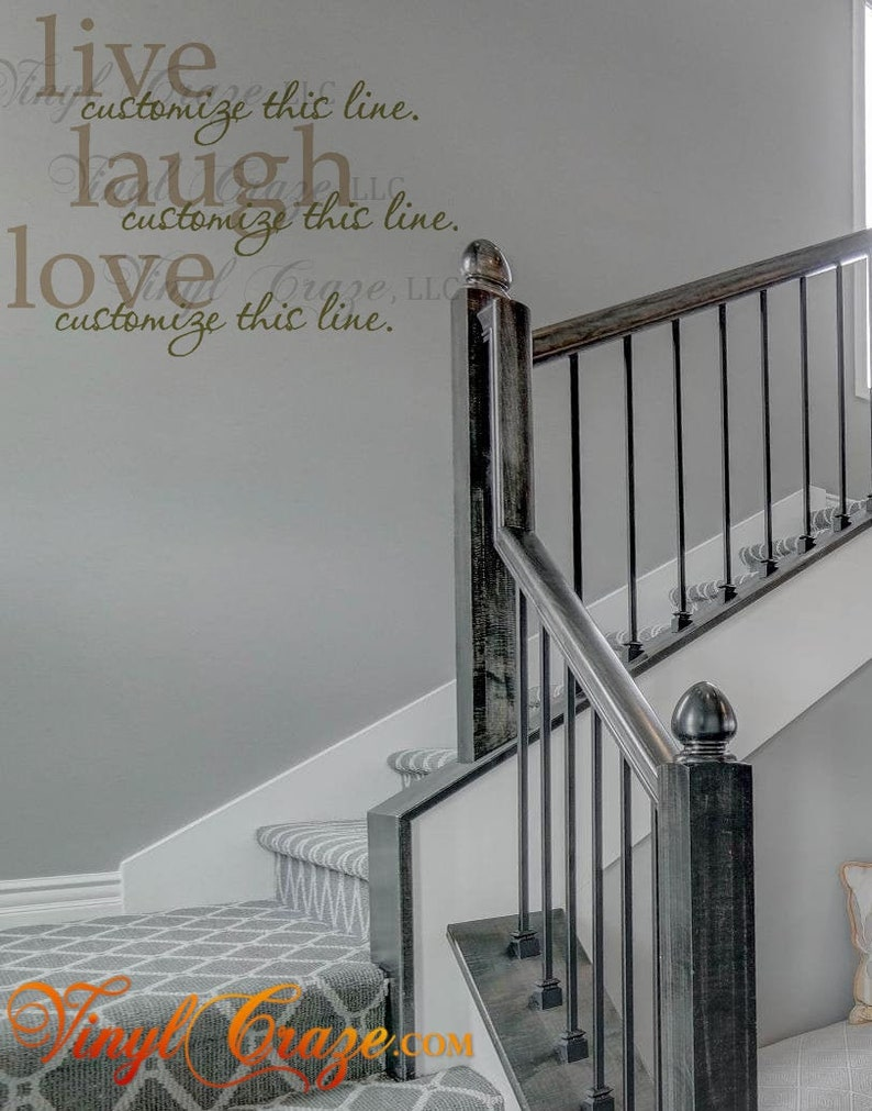 Live... Laugh... Love... CUSTOMIZE   Saying/Quote Wall Decal image 0