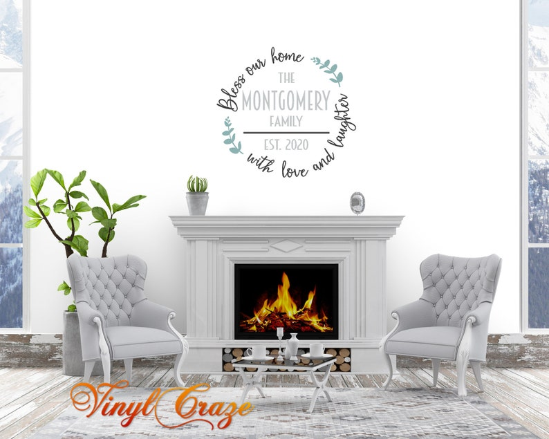 Bless our home with love and laughter Personalized Family image 0