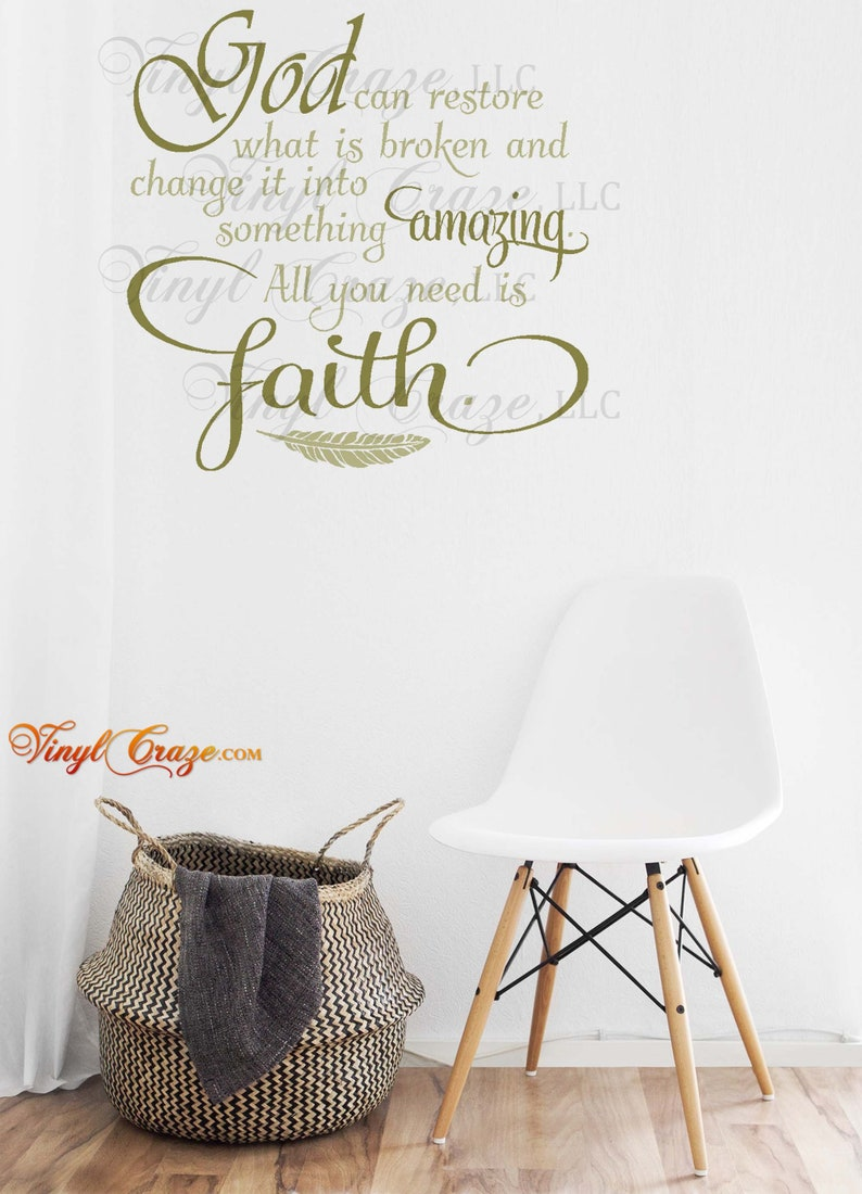 GOD can restore what is broken and change it into something image 0