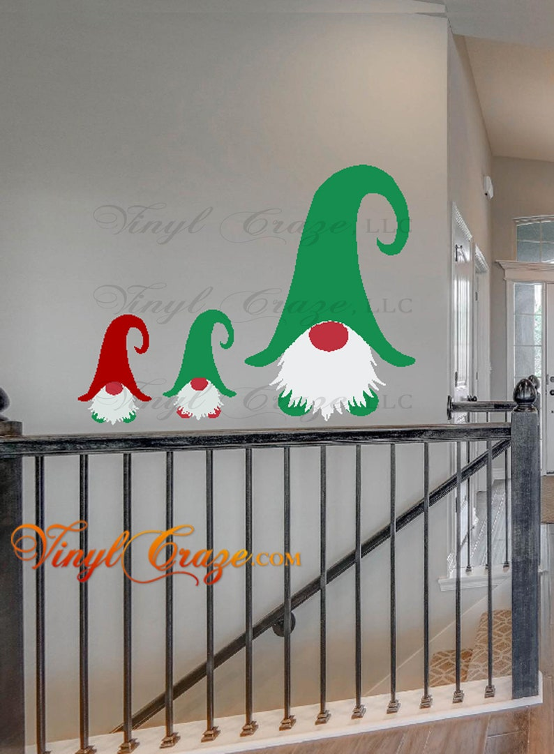 Gnome  Vinyl Wall Decal Gift Holiday Gnome Holiday image 0