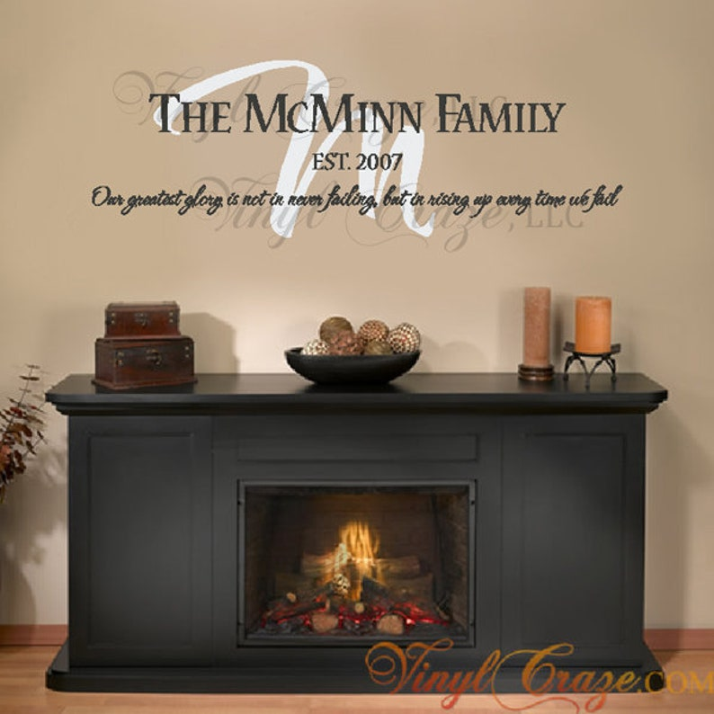 Personalized Family Last Name Year and Motto/Saying  Vinyl image 0