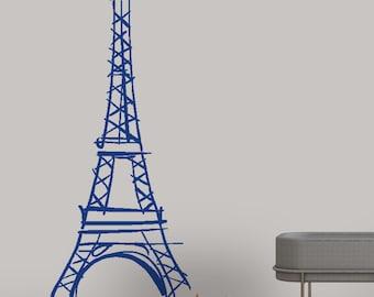 Abstract Eiffel Tower decal v2 - Bedroom Décor - Entryway Décor - vinyl wall decal vinyl wall art vinyl sticker home décor bedroom decal