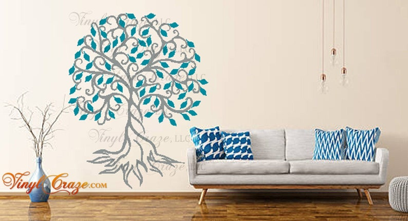 Tree with swirl trunk  Vinyl Wall Decal image 0