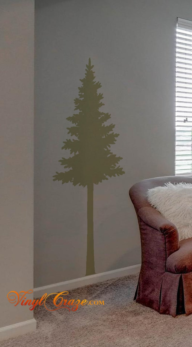 Tall Pine Tree single  Vinyl Wall Decal image 0