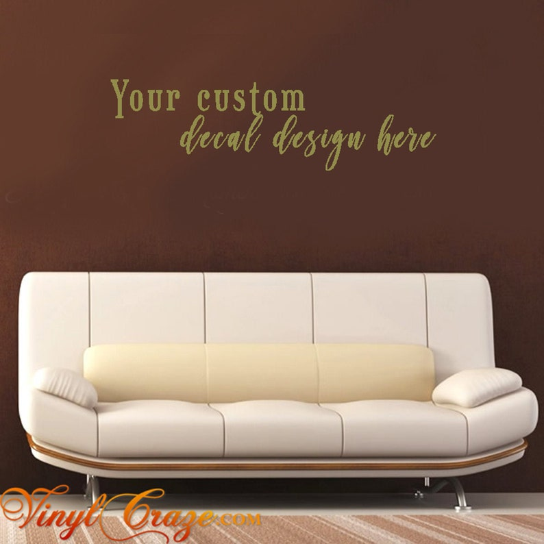 Custom Vinyl Wall Decal  Create Your Own Vinyl Wall Decal  image 0
