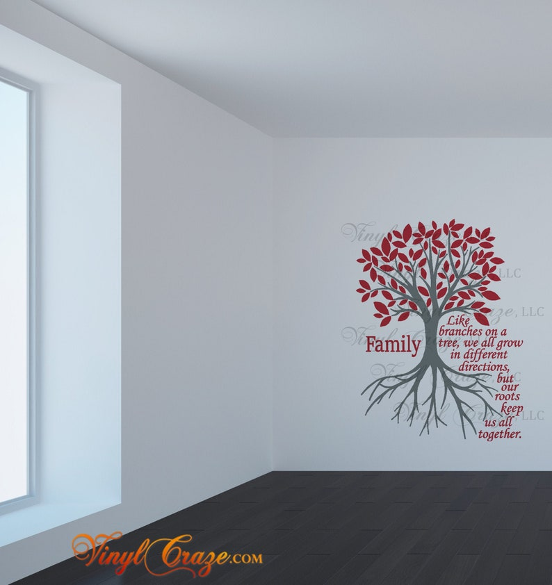 Family  Like branches on a tree multi-color  Saying/Quote  image 0