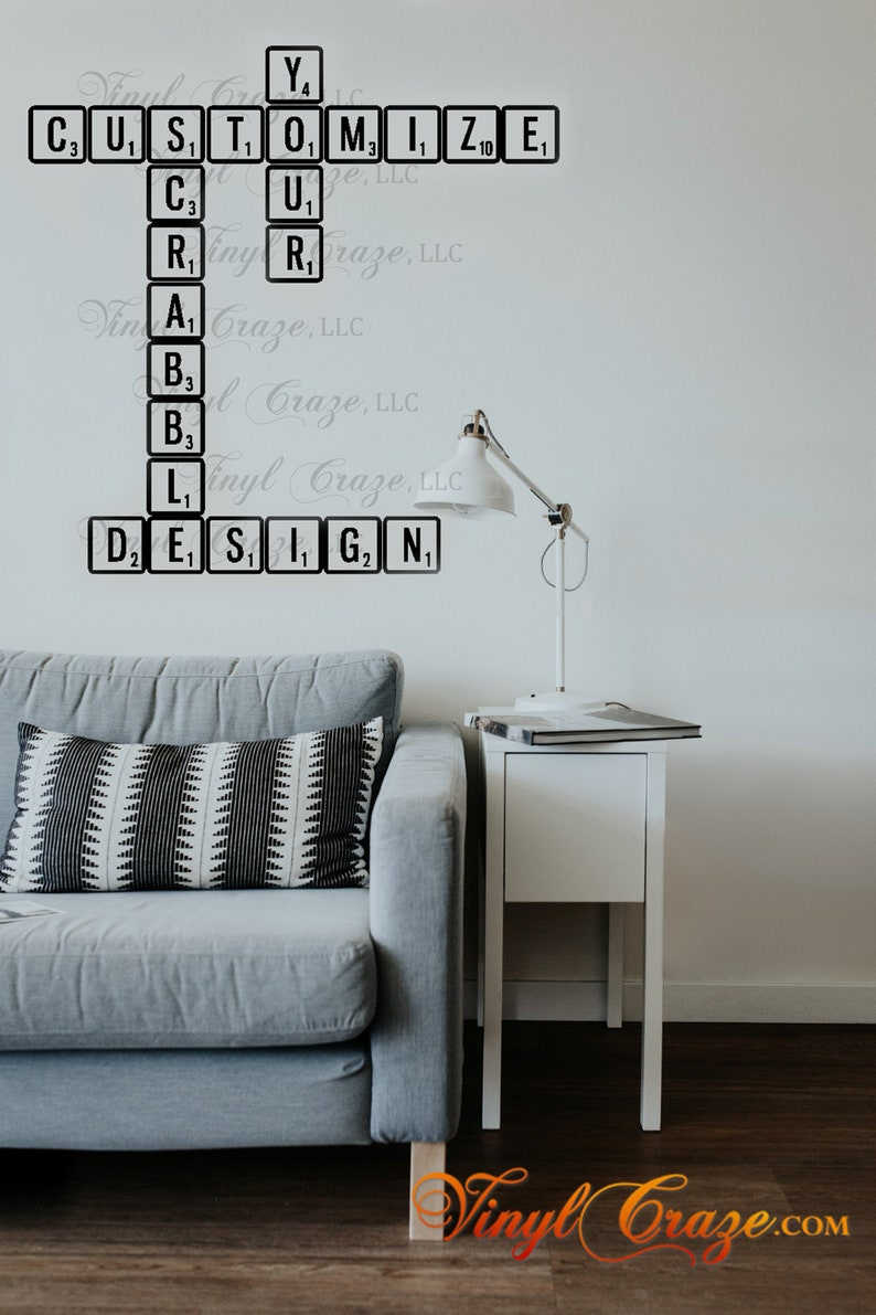 Scrabble Tile Decal Custom Scrabble Tile Vinyl Wall Decal image 0