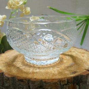 Vintage crystal salad bowl glass fruit bowl glass salad bowl crystal candies bowl soviet crystal bowl crystal serving dish glassware