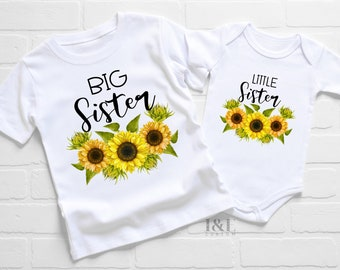 Big Sister Little Sister Matching Outfits   Gift for Sisters   Big Sister Shirt   Little Sister Shirt   Pregnancy Announcement T-shirt