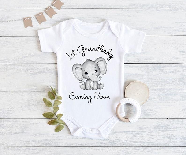 Baby Onesie 1st Grandbaby Coming Soon