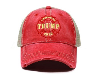 92e63e604c545 Firefighter for Trump Dad Hat