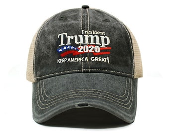 de23b2cc6c36a Trump 2020 Keep America Great Campaign Embroidered Hat