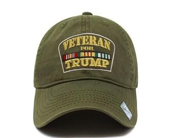 770ecc627b538 Veterans for Trump Dad Hat