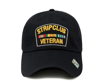 Strip Club Veteran Snapback Dad Hat - Flat Visor Baseball Cap Dad Hat 9d81a5b2c648