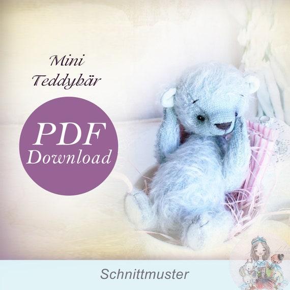 PDF Schnittmuster Teddy Bär 14 cm Mini | Etsy