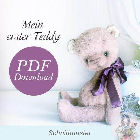 PDF Schnittmuster Teddy Bär 20cm   Etsy