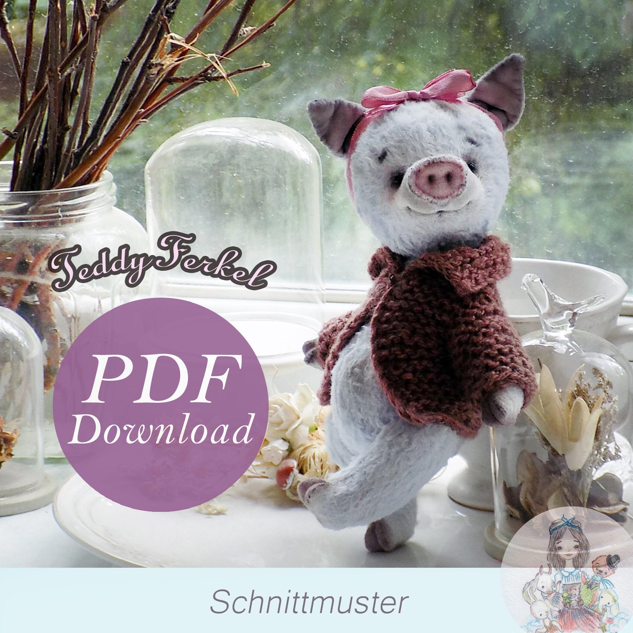 Awesome Schwein Schnittmuster Picture Collection - Decke Stricken ...