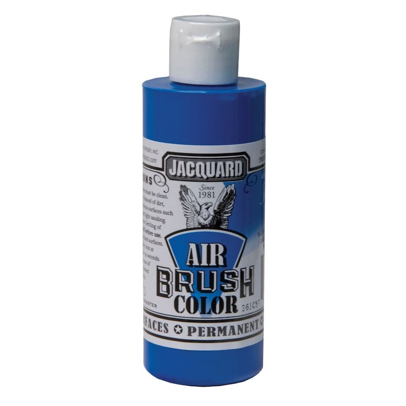 Rubber Plastic Vinyl - Wood Jacquard Airbrush Colors Paint for Leather Clay FLUORESCENT BLUE Fabric Metal