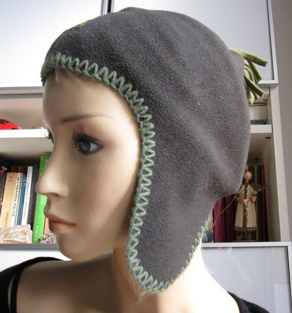 Vintage beanie beanie with ear flaps