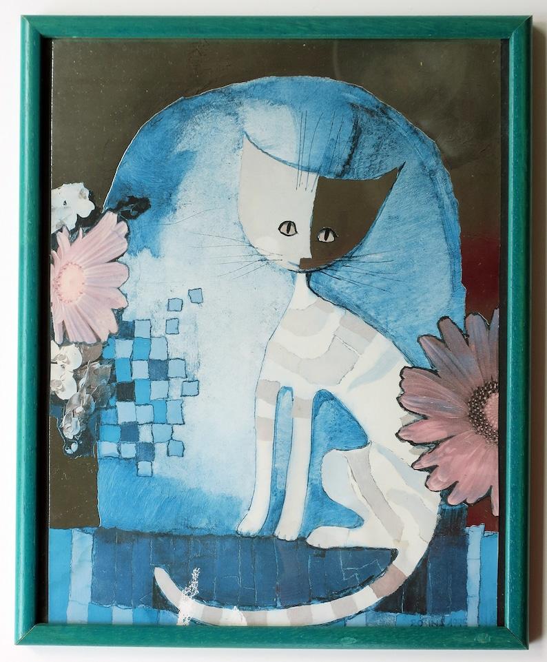 Kunstdruck Von Rosina Wachtmeister 1985 Mit Rahmen Etsy