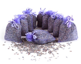 10 x Lavender bags of 10 g French lavender fragrance bags each | Moth protection in the wardrobe | Relaxing and sleeping
