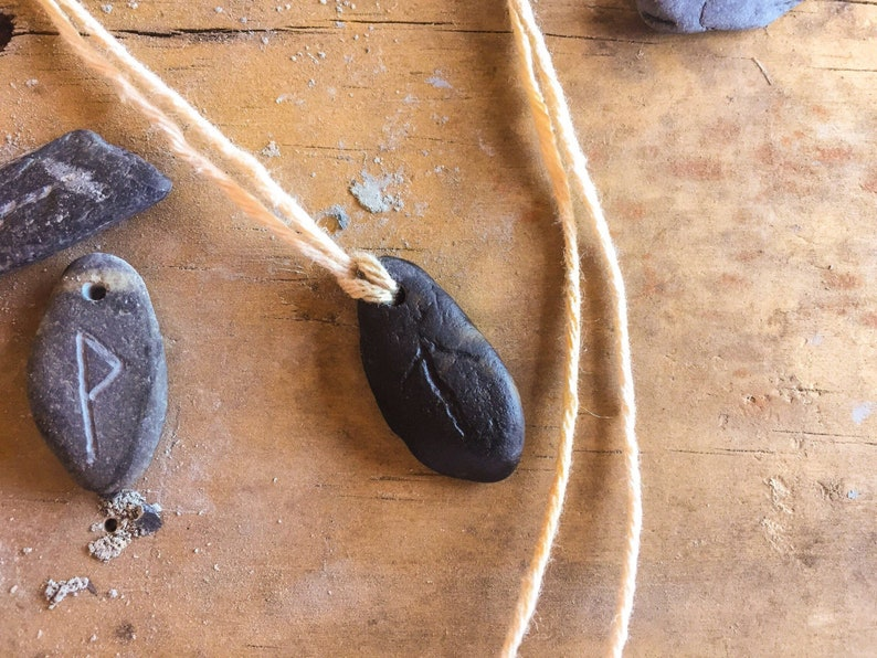 Rune stone necklace  pendant