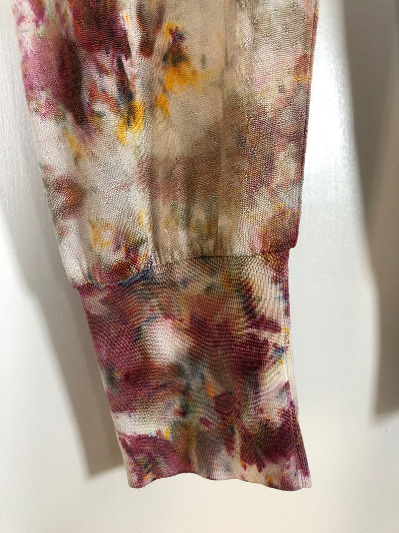 ice dyed silk knit leggings in PEBBLE *made to order  tie dye lounge  unique gift for friend wife bridesmaid