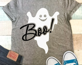 4c07ae63 Boo Ghost Tee-Women's Boo Tee-Girls Ghost Tee-Happy Halloween-Boo-Happy  Ghost-Trick or Treat-Matching Shirts-Family Vacation-Disney World