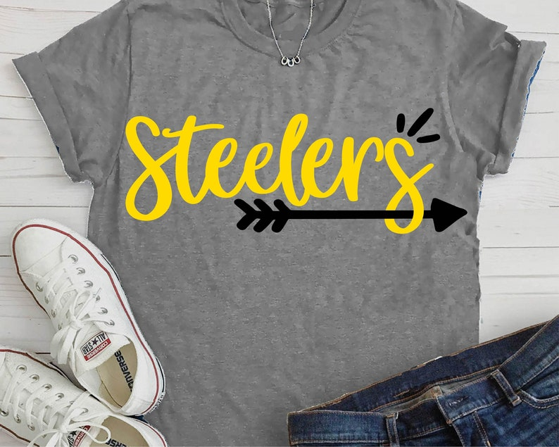 the latest ebfdb cdba0 Steelers Tee-Women's Steelers Tee-Girls Steelers Shirt-Pittsburgh  Steelers-Steelers Football-NFL Football