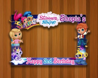 Shimmer And Shine Photo Booth Frame Birthday Sticker For Frames Prop