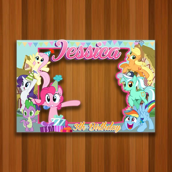 My Little Pony Photo Booth Frame My Little Pony Photo Booth Etsy