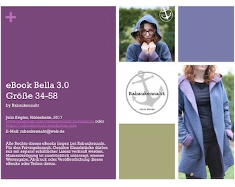 eBook Bella 3.0 Jacke Parka Zipfeljacke 34-58