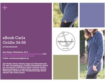eBook Carla Cardigan Strickjacke 34-58