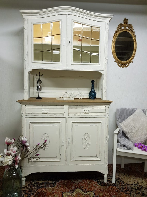 Shabby Chic Antique Buffet Kitchen Cabinet Topstück Now Reduced