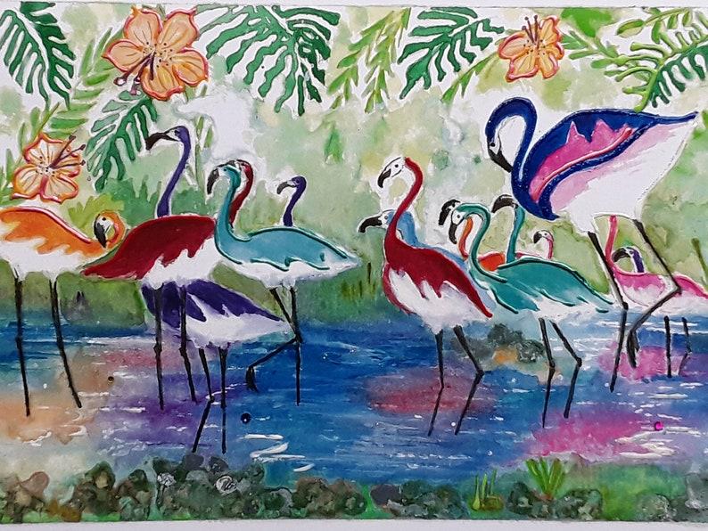 flamingo,rainbow flamingo,tropical birds,lagoon birds,rainbow lagoon,tropical lagoon,tropical dream,lagoon gathering,rainbow tropics,multico