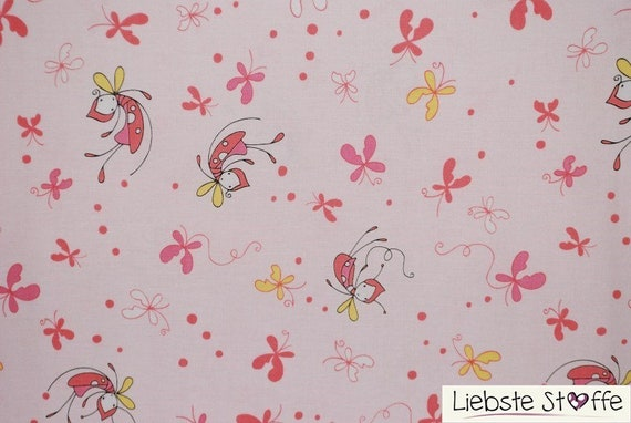 Fat Quarter Butterfly Dance Pink Cotton Quilting Fabric Riley Blake C3890