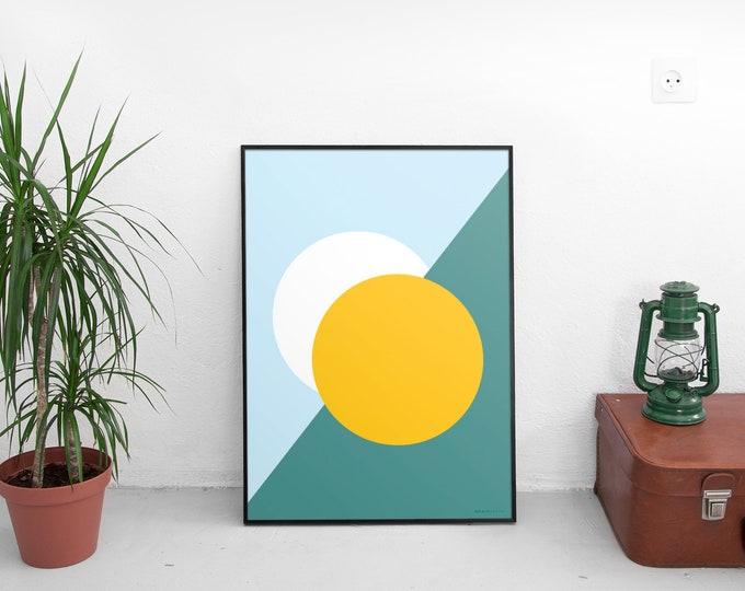 Splitting Suns Art Print