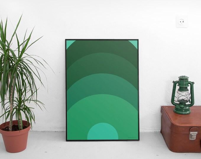 Green Scenes Art Print