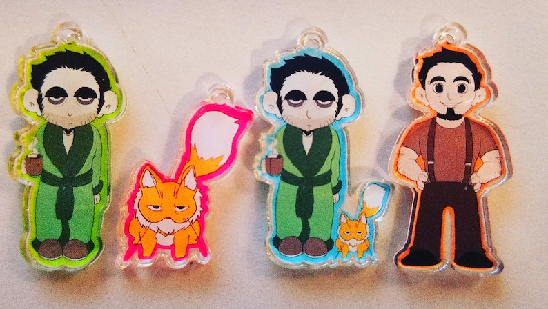 Seamus and Abbie  Character Charms w/ Keychain image 0