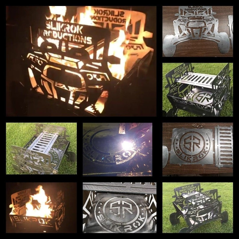 CUSTOM Off-Road  Collapsible Fire Pit Designed from YOUR machine