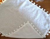 Baby photography props pompom blanket white baby accessory photo prop knit layer pom pom braid photoshoot newborn