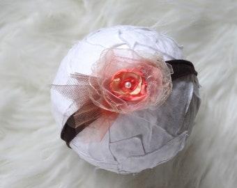 977caa909bed6 Fotoshooting Baby Haarband Accessoire Newborn Fotografie prop Neugeborene  Taufe Säugling Kopfschmuck Handmade Blumen Haarband